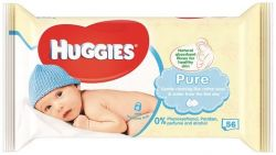 Huggies Pure vlhčené ubrousky 56 ks
