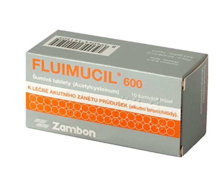 Fluimucil 600 10 šumivých tablet
