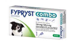Fypryst Combo spot-on pro střední psy 10-20 kg 134 mg/120,6 mg roztok pro nakapání na kůži 1x1,34 ml