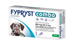 Fypryst Combo spot-on pro velké psy 20-40 kg 268 mg/241,2 mg roztok pro nakapání na kůži 1x2,68 ml