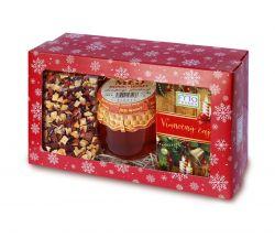 Fytopharma Dárková kazeta Vánoční čaj sypaný 100 g + porcovaný 20 x 2 g + dárek med 250 g