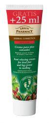 Green Pharmacy Kaštan a listy červených hroznů krém na nohy 100 ml