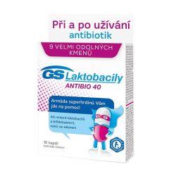 GS Laktobacily Antibio40 10 kapslí