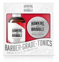 Hawkins & Brimble Pánský set šampon 250 ml + pomáda na vlasy 100 ml