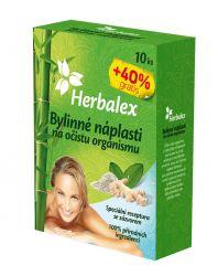 Herbalex Bylinné detoxikační náplasti 10 ks + 40 % zdarma
