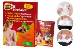 Herbalex Hřejivá náplast s kaštanem 3+1 ks + bederní pás