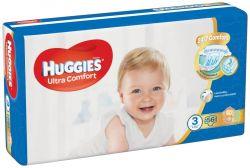 Huggies Ultra Comfort Jumbo vel. 3 5-8 kg dětské plenky 56 ks