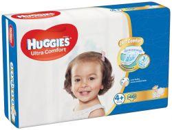 Huggies Ultra Comfort Jumbo vel. 4+ 10-16 kg dětské plenky 46 ks