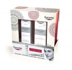 Eucerin Hyaluron-Filler Dárkový set denní krém pro normální a smíšenou pleť + oční krém