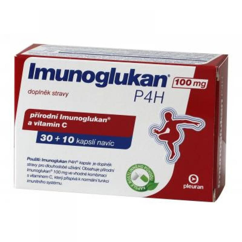 Imunoglukan 100mg cps.30+10 navíc