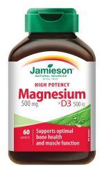 Jamieson Hořčík 500 mg s vitaminem D3 500 IU 60 tablet