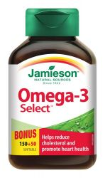 JAMIESON Omega-3 Select 1 000mg cps.200