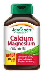 Jamieson Vápník hořčík s vitamínem D3 120 tablet