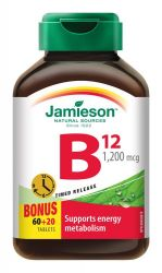 JAMIESON Vitamín B12 1200 mcg s postupným uvolňováním 80 tablet