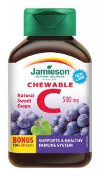 JAMIESON Vitamín C 500mg na cucání s příchutí hrozna tbl.120