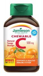 JAMIESON Vitamín C 500mg na cucání s příchutí pomeranče tbl.120