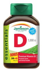 Jamieson Vitamín D3 1000 IU 240 tablet