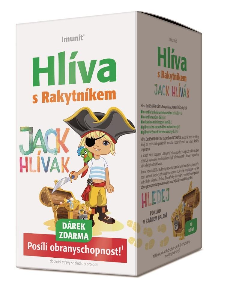 Imunit Jack Hlívák Hlíva s rakytníkem pro děti 30 tablet