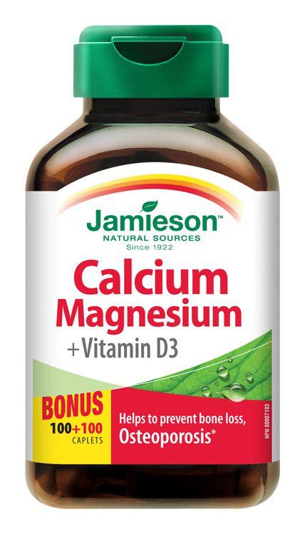 JAMIESON Vápník, hořčík s vitamínem D3 200 tablet