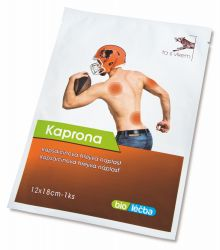 Kaprona Kapsaicinová prohřívací náplast 12x18 cm