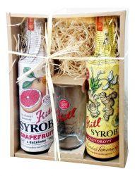 Kitl Syrob Grep + Zázvor dárkové balení 2x500 ml