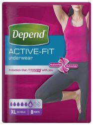 Depend Active-Fit pro ženy vel. XL inkontinenční kalhotky 8 ks