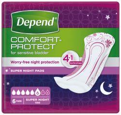 Depend Super Plus inkontinenční vložky 6 ks