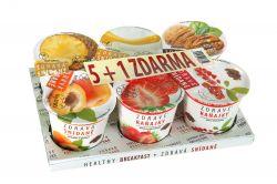 Obezin Zdravá snídaně mix příchutí 5+1 zdarma