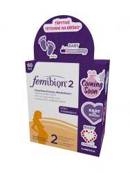 Femibion 2 s vitaminem D3 dvojbalení 60 tablet a 60 tobolek + tetování