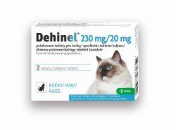 Dehinel pro kočky 230 mg/20 mg 2 tablety