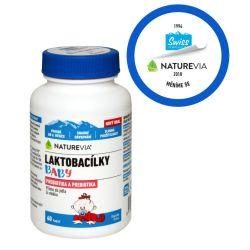 Swiss NatureVia Laktobacílky baby 60 kapslí