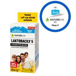 Swiss NatureVia LAKTOBACILY 5 66 kapslí