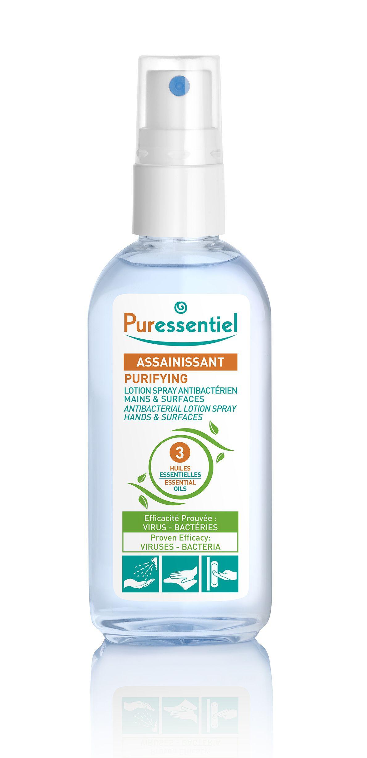 PURESSENTIEL Čisticí antibakteriální roztok sprej 80 ml  91991ffab0