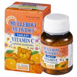Dr.Müller Müllerovi medvídci s vitaminem C mandarinka 45 tablet