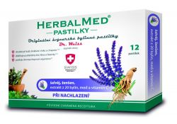 Dr. Weiss HerbalMed Šalvěj + ženšen + vitamin C 12 pastilek