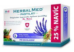Dr. Weiss HerbalMed Šalvěj + ženšen + vitamin C 24+6 pastilek