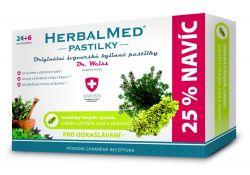 Dr. Weiss HerbalMed Islandský lišejník + tymián + med + vitamin C 24+6 pastilek