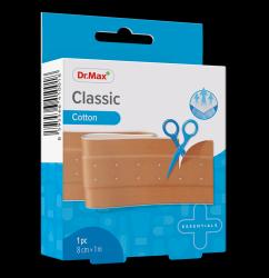 Dr.Max Classic Cotton 8cm x 1m náplast 1 ks