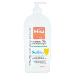 Mixa Baby Extra vyživující mycí gel na tělo a vlásky 400 ml