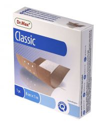 Dr.Max Classic 8 cm x 1 m náplast s polštářkem 1 ks