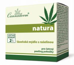 Cannaderm Natura Lázeňské mýdlo s rašelinou 80 g