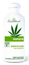 Cannaderm Natura Pleťová voda bez alkoholu pro normální a suchou pleť 200 ml