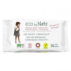 ECO by Naty Vlhčené ubrousky pro citlivou pokožku 56 ks