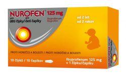 Nurofen Pro děti 125 mg 10 čípků