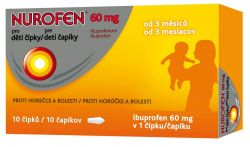 Nurofen Pro děti 60 mg 10 čípků