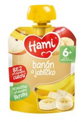 Hami Ovocná kapsička banán a jablko 6x90 g