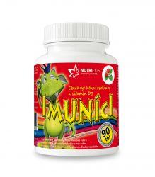 Nutricius Imuníci Hlíva ústřičná s vitaminem D pro děti 90 cucacích tablet