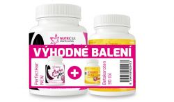 Nutricius PerfectHair New methionin 500 mg 100 tablet + Betakaroten Extra 15 mg 30 tablet výhodné
