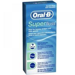 Oral-B SuperFloss zubní nit voskovaná 50 m