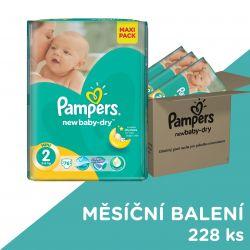 Pampers New Baby-Dry dětské pleny velikost 2 Mini 3x76 ks